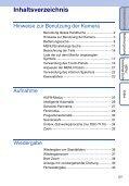 Sony DSC-T110 - DSC-T110 Istruzioni per l'uso Tedesco - Page 5