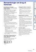 Sony DSC-T110 - DSC-T110 Istruzioni per l'uso Danese - Page 3
