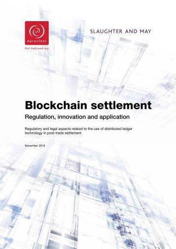 Blockchain settlement