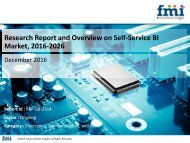 Self-Service BI Market Global Industry Analysis, size, share and Forecast 2016-2026