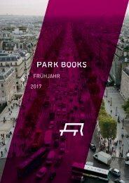 Park Books Vorschau Fruejahr 2017