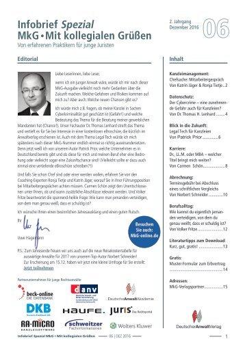 Infobrief MkG, Ausgabe 2016/06