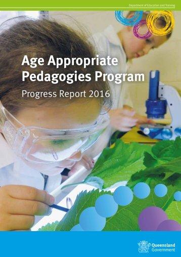 Age Appropriate Pedagogies Program