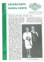 2002 Pfingsten Ausgabe - Jägercorps Neuss - Furth 1932