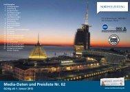 Media-Daten und Preisliste Nr. 62 - Nordsee-Zeitung