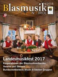 Blasmusik in Tirol, Ausgabe 4 / 2016