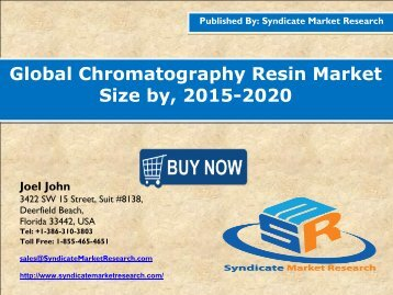 Global Chromatography Resin Market Size, 2015 - 2020
