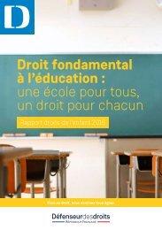 Droit fondamental à l'éducation  une école pour tous un droit pour chacun