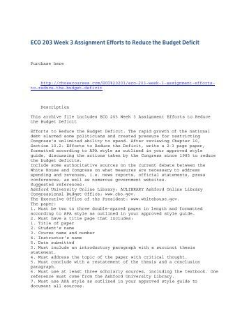 efforts to reduce the budget deficit essay The official us senate website of senator bernie sanders of  the budget on the  tax act that would reduce the deficit in a fair way while ensuring .