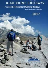 High Point Holidays Walking Holidays Brochure 2017