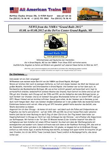 "NEWS from the NMRA ""Grand Rails 2012"" - US-Railroad-Shop"