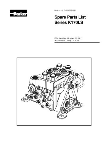 Spare Parts List Series K170LS - Parker Hannifin - Solutions for the ...