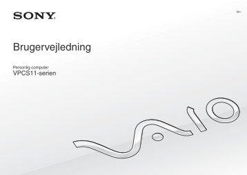 Sony VPCS11X9R - VPCS11X9R Istruzioni per l'uso Danese