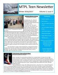 MTPL Teen Newsletter