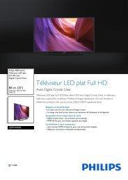 Philips 4000 series Téléviseur LED plat Full HD - Fiche Produit - FRA