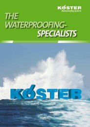 THE WATERPROOFING- SPECIALISTS - Koster