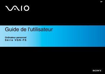 Sony VGN-FS485B - VGN-FS485B Istruzioni per l'uso Francese