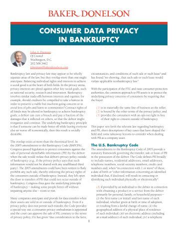 CONSUMER DATA PRIVACY IN BANKRUPTCY