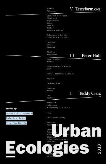 Ecologies Urban