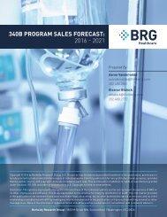 340B PROGRAM SALES FORECAST 2016 - 2021