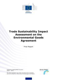 Trade Sustainability Impact Assessment on the Environmental Goods Agreement