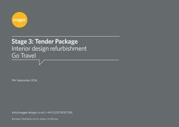 Go Travel | Tender Package |  Stage 3