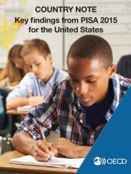 COUNTRY NOTE Key findings from PISA 2015 for the United States