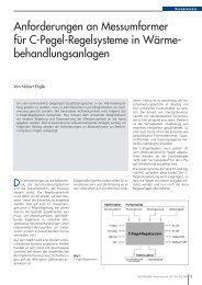 Anforderungen an Messumformer für C-Pegel-Regelsysteme in ...