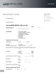 Anfrage und Objektdatenblatt - Metal-Con.de