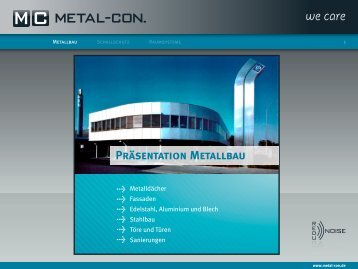 Fassaden - Metal-Con.
