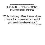 Hub Mall, By Ron Wickman