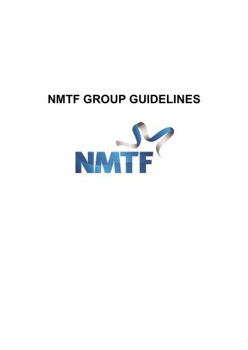 NMTF GROUP GUIDELINES