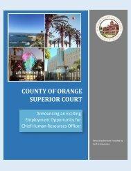 COUNTY OF ORANGE SUPERIOR COURT