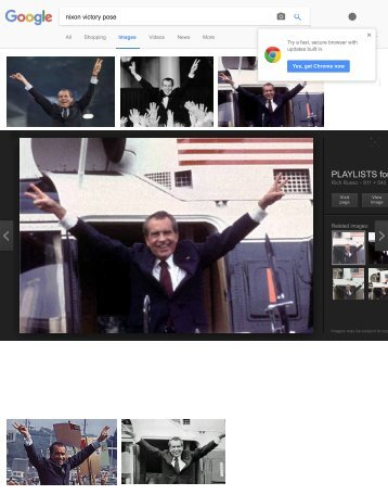 nixon victory pose - Google Search