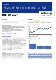 Allianz?dit Euro Rentenfonds ? A ? EUR - MetallRente