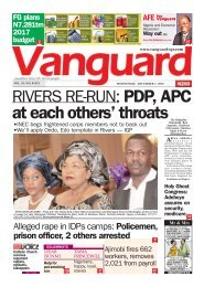RIVERS RE-RUN: PDP, APC at each others' throats