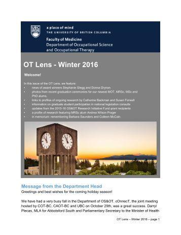 OT Lens - Winter 2016