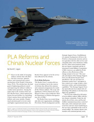 PLA Reforms and China's Nuclear Forces