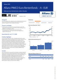 Allianz PIMCO Euro Rentenfonds - A - EUR - MetallRente
