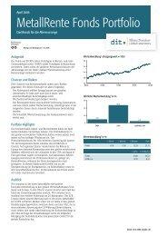 MetallRente Fonds Portfolio