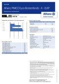 Allianz PIMCO Euro Rentenfonds - A - EUR¹ - MetallRente - Seite 2
