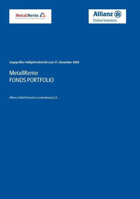 Halbjahresbericht 12/2009 - MetallRente