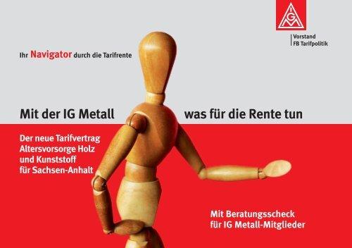 Mit der IG Metall was für die Rente tun - MetallRente