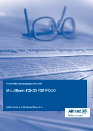 Verkaufsprospekt Kurzfassung 03/2007 - MetallRente