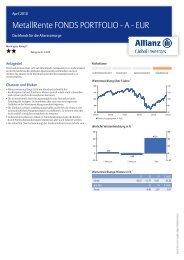 MetallRente FONDS PORTFOLIO - A - EUR