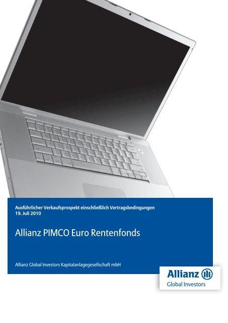 Allianz PIMCO Euro Rentenfonds - MetallRente