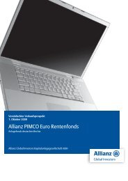 Allianz PIMCO Euro Rentenfonds - MetallRente