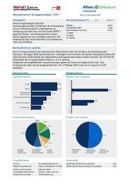 Monatsbericht Anlagestrategie