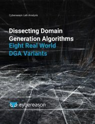 Dissecting Domain Generation Algorithms Eight Real World DGA Variants