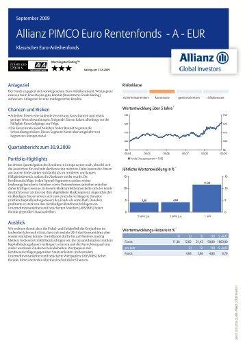 Allianz PIMCO Euro Rentenfonds - A - EUR - MetallRente